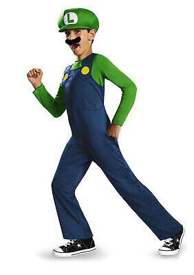 Nintendo Super Mario Bros Luigi Jungen Grün Halloween - Luigi Kostüm Junge