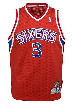 f09df5231 Philadelphia 76ers Allen Iverson Youth Jersey Soul Swingman Red S