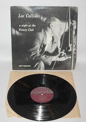 Lee Collins - A Night At The Victory Club - 1974 Vinyl LP - New Orleans NOR 7203