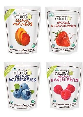 Natierra Organic Freeze-Dried 4pk:Mango,Raspberry,Blueberry,Strawberry