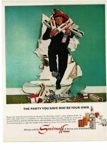 1965 SMIRNOFF Vodka Buddy Hackett Vintage Print Ad