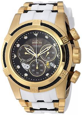 Invicta Men's 'Character Collection' Quartz Gold-Tone and Silicone Casual...
