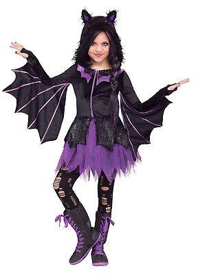 Night Flyer Girls Child Halloween Cute Animal Bat Costume