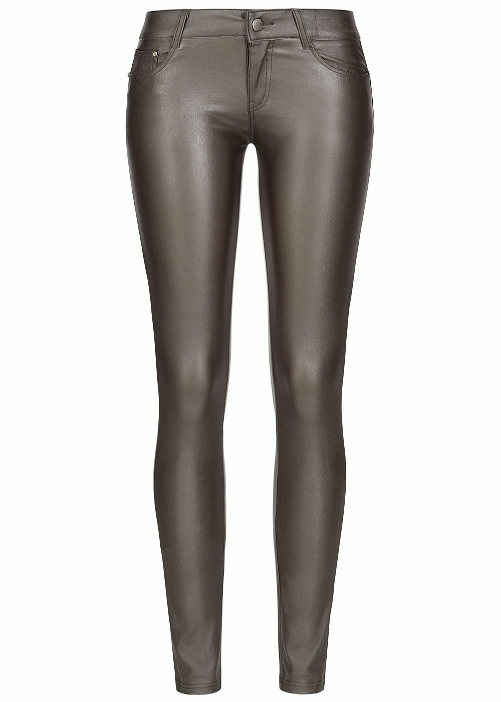 39% OFF B18083310 Damen 77 Lifestyle Hose Skinny Jeans Glanz Optik choco braun