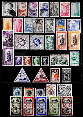 MONACO: 1950'S STAMP COLLECTION WITH SETS MANY UNUSED