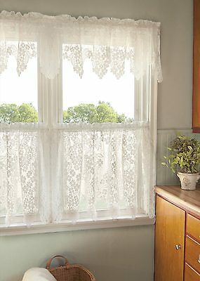 Dogwood White Lace Window Tier by Heritage Lace