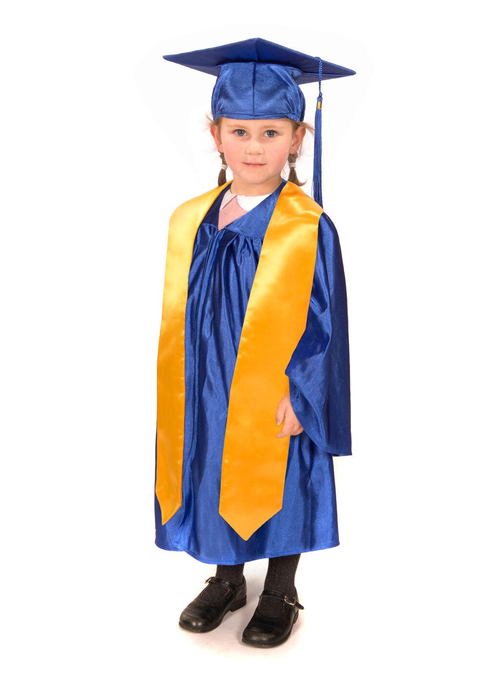 kinder kinderzimmer abschluss kleid, kappe und stola - ebay
