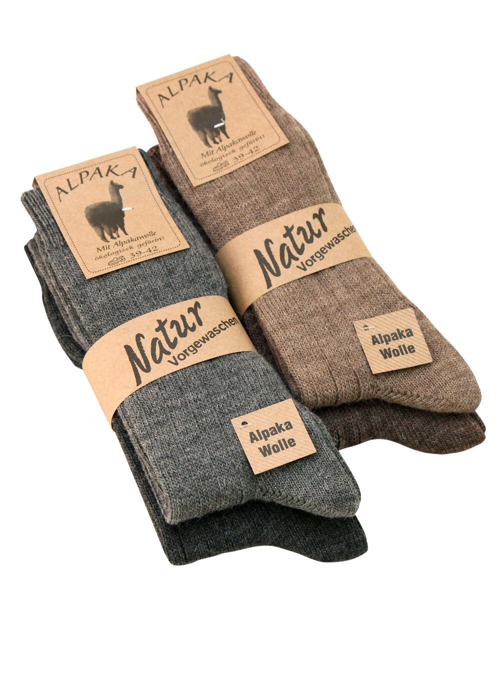 2-4 Paar Alpaka Socken Strümpfe Wollsocken warm dünn gestrickt für Damen Herren