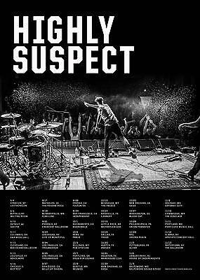 HIGHLY SUSPECT 2016 USA CONCERT TOUR POSTER - Hard/Alt/Blues Rock Music
