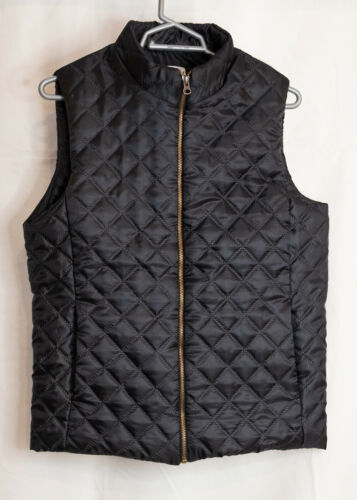 Puffer Vest Water Resistant Quilted Padded Lightweight cross stich Jacket