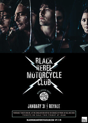 BLACK REBEL MOTORCYCLE CLUB/NIGHT BEATS 2018 BOSTON, MA CONCERT TOUR POSTER-Rock