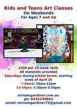 ART CLASSES 7-10yrs Start Saturday! Final TWO SPOTS Midvale Mundaring Area Preview