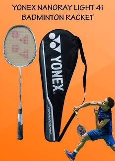 Yonex -Nanoray Light 4i iSeries White Blue Badminton Racket