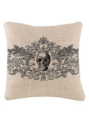 Heritage Lace HALLOWEEN Gothic Skull Pillow COVER 18x18 Made in - Heritage Lace Halloween