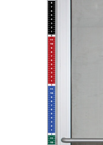 "Set of 4 - Security Height Ruler Tape Door Frame 1.75"" x 35"" Vinyl Sticker Color"