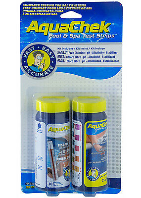- AquaChek 542228A Swimming Pool Salt Water System Chemical Test Kit - 25 Pack