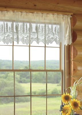 Heritage Lace Pinecone Valance 60x16 Ecru Made in USA