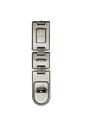 Master Lock 722DPF 7-3/4in. Hardened Steel Double Hinge Hasp, Zinc Plated 3/4 Double Hinge Hasp