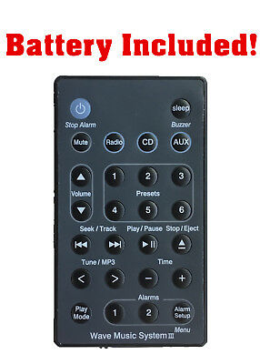 New USBRMT Remote (Black) For Bose Wave Radio/CD Music System III AWRCC2 AWRCC3