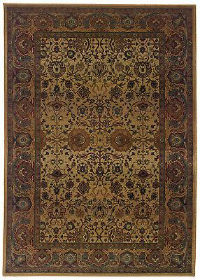 Beige Traditional - Persien/Oriental Scrolls Bordered Area Rug Asian -