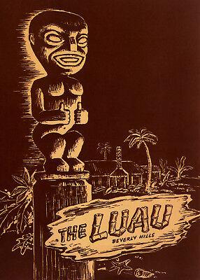 1950s Luau Menu cover - Luau Menu