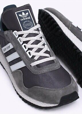BNIB Adidas Originals New York Granite Grey Trainers size 7.5