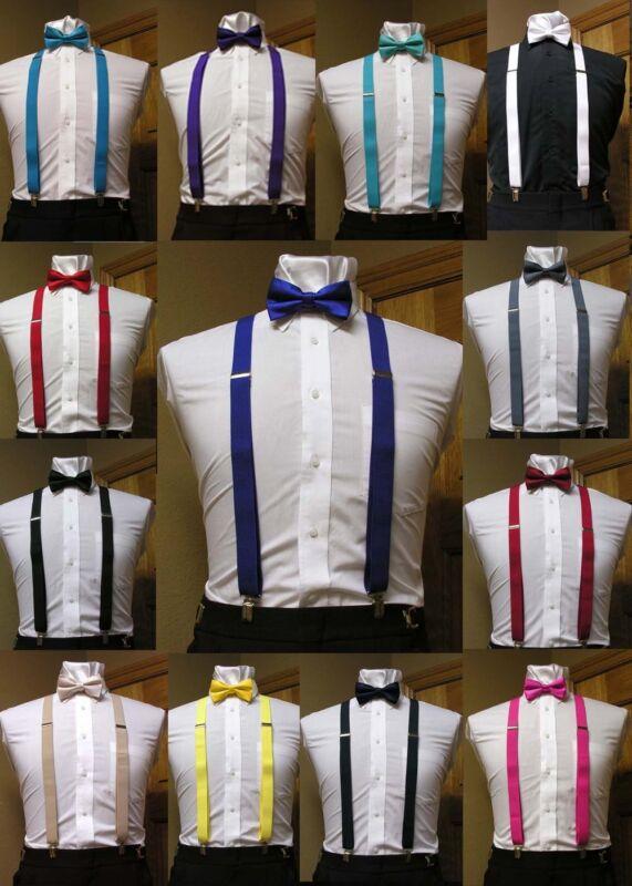 Matching Bowtie And Suspenders Set Men