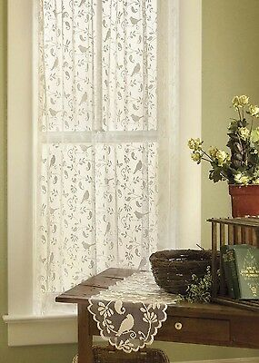 Heritage Lace BRISTOL GARDEN Curtains 7 sizes 2 colors...Cafe or White NEW