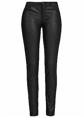 Leder-mix (60% OFF B15050578 Damen Only Hose enganlieg.Kunstleder vorne Materialmix schwarz)