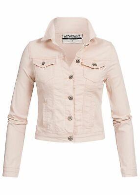 men Hailys Jacke Jeans Jacke Brusttaschen Taschen hell rosa (Jacken Rosa)