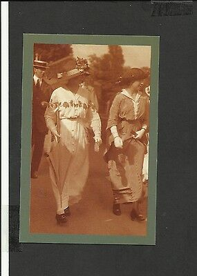 Nostalgia Postcard Edwardian Women Wimbledon 1914