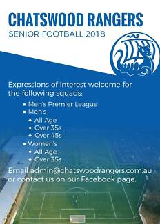 Wanted: Come Play Football For Chatswood Rangers