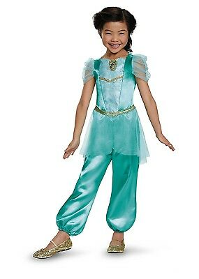 Girls Jasmine Costume Disney Aladdin Princess Fancy Dress Toddler Child Kids NEW - Aladdin Dress Up Costumes