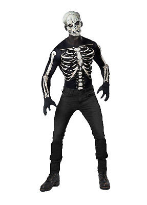 Bones Adult Skeleton (Skeleton Mens Adult Horror Bones Reaper Instant Costume)
