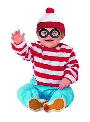Wheres Waldo Boys Toddler Book Character Halloween Costume One Piece - Toddler Halloween Books