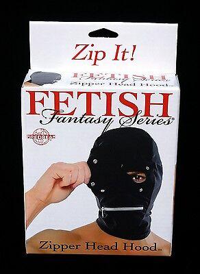 Zipper Mouth Costume (New Lycra Spandex Hood Mask Snap Blindfold Eyes & Zipper Mouth)
