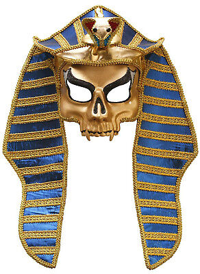 Mumie Erwachsenen Kostüme (Mumie König Herren Erwachsene Ägyptisch Royalty Halloween Kostüm Maske)