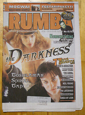 Finnish RUMBA Magazine 15 / 2003 : THE DARKNESS Cover