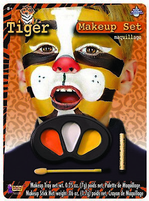 Cute Colors Tiger Halloween Face Paint Animal Child Makeup Kit (Cute Face Paint Halloween)