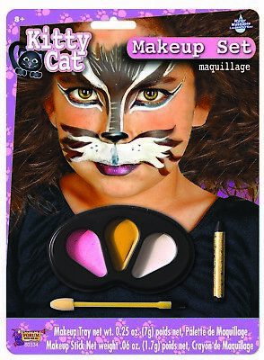 Cute Colors Kitten Halloween Face Paint Animal Child Makeup Kit (Cute Face Paint Halloween)
