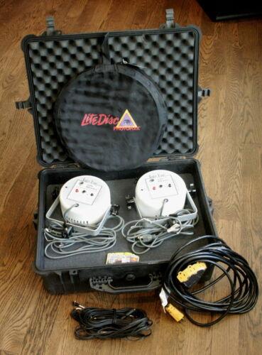 Pair of Paul C Buff 5000 BCPS White Lightning Studio Flashes in Pelican Case