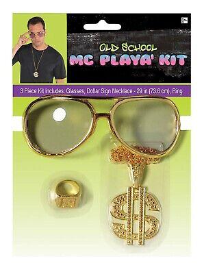 Mc Spielt Herren Erwachsene 90er Jahre Hip Hop Rapper Kostüm - 90er Jahre Rapper Kostüm