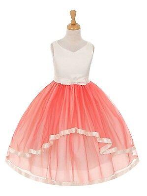 Gorgeous Cascading Princess Gown Birthday Jr Bridesmaid Formal Flower Girl Dress - Gorgeous Flower Girl Dresses