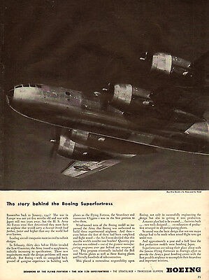 1944 WW2 AD BOEING B-29 Superfortress Great Photo in Flight ! -010315