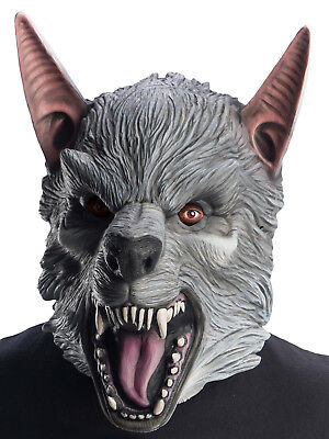 Ralph Mens Adult Overhead Latex Rampage Werewolf Monster Mask