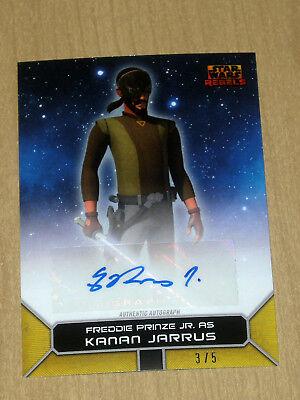 2017 Topps Star Wars Rebels On Demand GOLD autograph Freddie Prinze JR KANAN 3/5