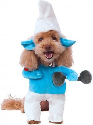 f die Schlümpfe Stark Haustier Hund Katze Halloween Kostüm (Schlumpf Kostüm Hund)