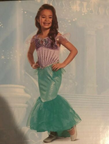 Disney Princess Girl Dress Deluxe Costume Little Mermaid Ari