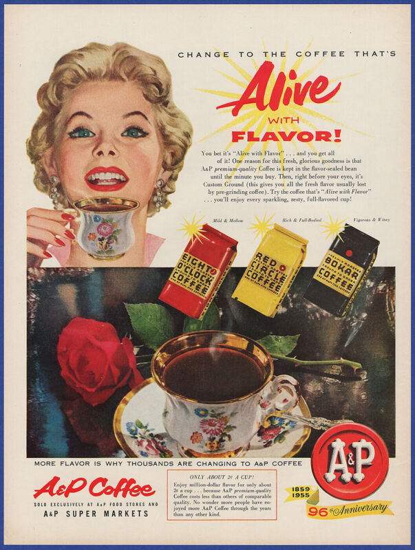 Vintage 1955 A&P Coffee Eight O