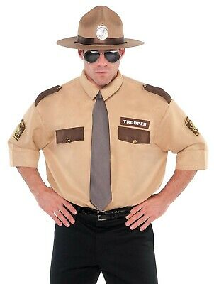 Sheriff Officer Mens Adult Law Enforcement Halloween Costume - Law Costumes Halloween